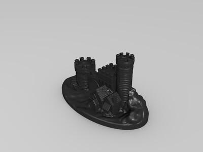 精细城堡-3d打印模型