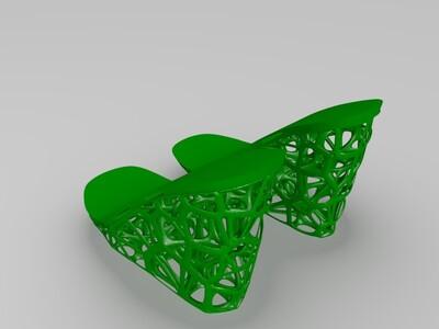 镂空鞋子-3d打印模型