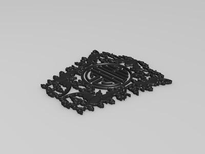 墙壁挂件-3d打印模型