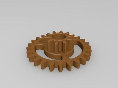 减压齿轮 三齿轮-3d打印模型