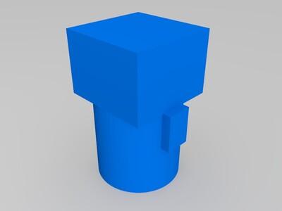 战神金刚 机甲舰队 大腿-3d打印模型