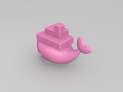 鯨魚船-3d打印模型