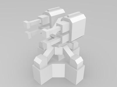 Planetary Annihilation 横扫千星 防御塔-3d打印模型