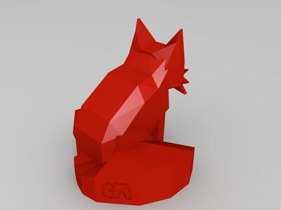 低像素狐狸-3d打印模型