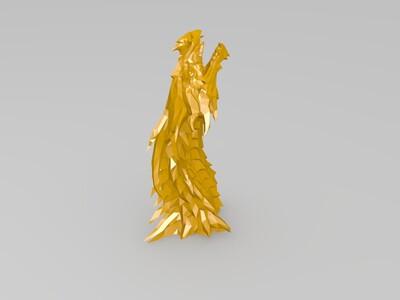荆棘龙首 分体-3d打印模型