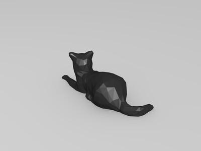 低多边形 猫-3d打印模型