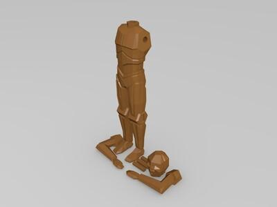 低多边形 星球大战 星战 机器人 R2D2 C3PO-3d打印模型