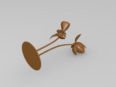 荷花-3d打印模型