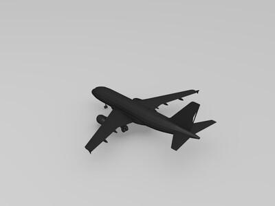空中客车A319客机-3d打印模型