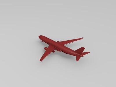 空中客车A330-200客机-3d打印模型