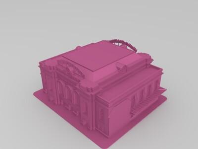 丹佛-联合车站-3d打印模型