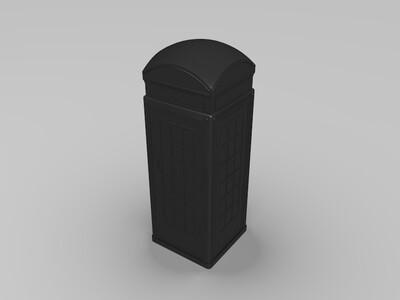 电话亭-3d打印模型
