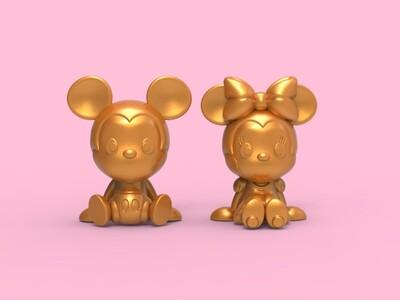 原创米奇and米妮-3d打印模型
