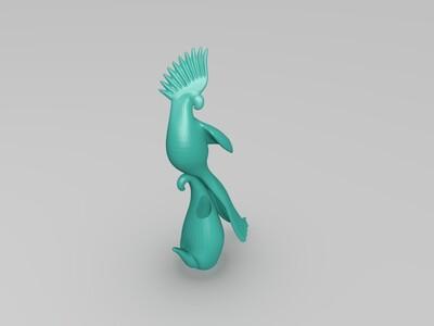 鹦鹉笔筒-3d打印模型