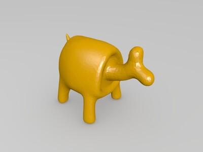 噗浪兽-3d打印模型