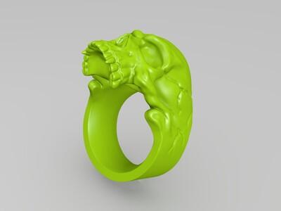 骷髅头戒指-3d打印模型