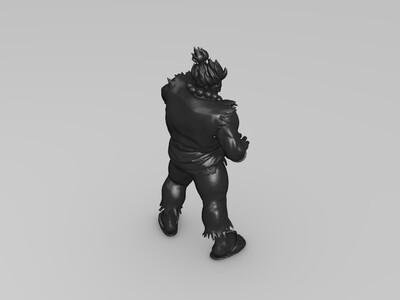 《街霸》豪鬼-3d打印模型