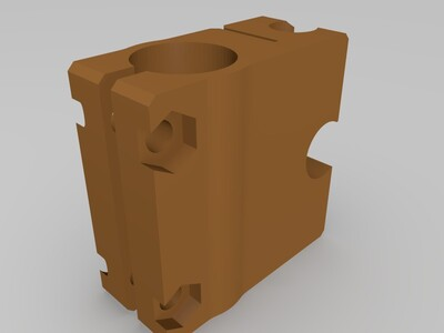 18mm轴距滑块-3d打印模型