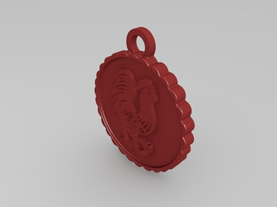 刚哥鸡年吊坠-3d打印模型
