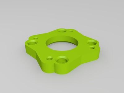 25度.擠出機轉接座-3d打印模型