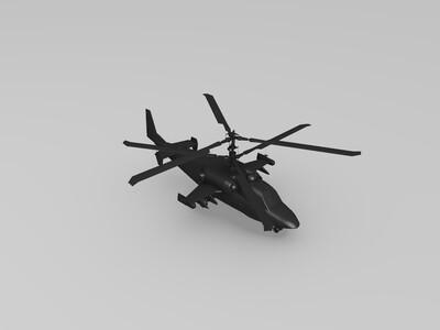俄罗斯k-52武装直升机-3d打印模型