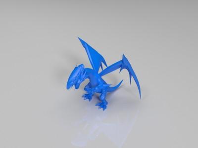 蓝眼白龙-3d打印模型