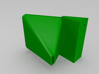 I3打印机MK8挤出机风道-3d打印模型