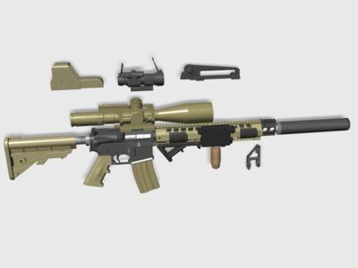 狙击镜+快拆战术镜架