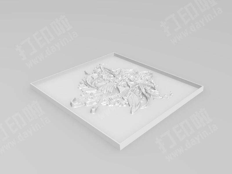 洛天依和阿绫 3D浮雕立体画-3d打印模型
