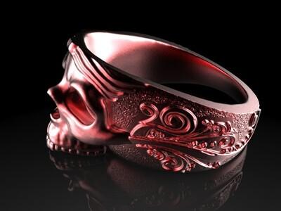 骷髅魔戒-3d打印模型