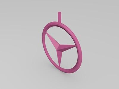 奔驰 摆件 自行车奔驰logo-3d打印模型