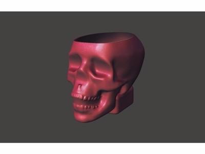 骷髅头杯子-3d打印模型