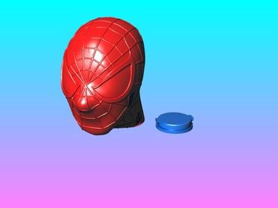 蜘蛛人存钱筒(灯笼)-3d打印模型