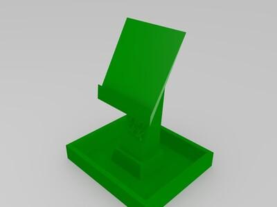 二维码支架以及二维码-3d打印模型
