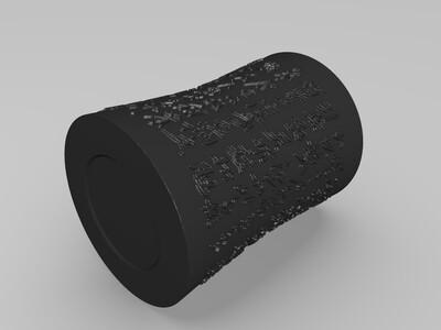 沁园春 笔筒 摆件  杯子 工艺品-3d打印模型