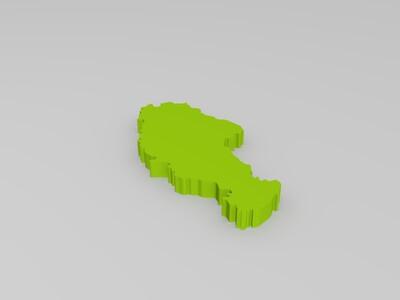 中国地图拼图-3d打印模型
