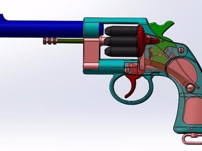 45式左轮手枪-3d打印模型