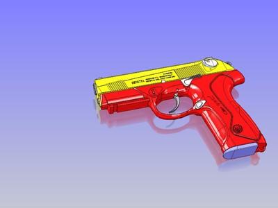 覆刻-貝雷塔 PX4 手槍-3d打印模型