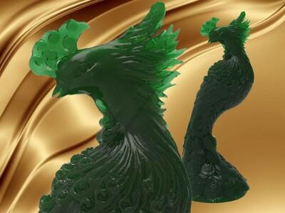 凤凰 雕塑摆件-3d打印模型