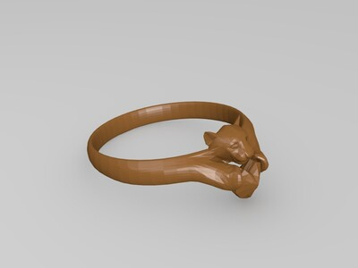 猎豹钻戒-3d打印模型
