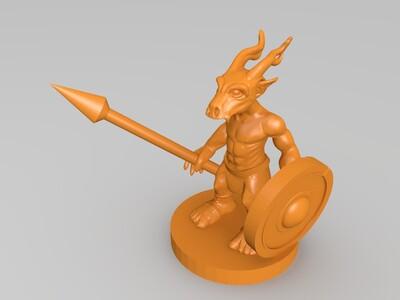 龙角战士-3d打印模型