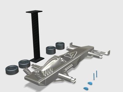 自己设计的赛车-3d打印模型