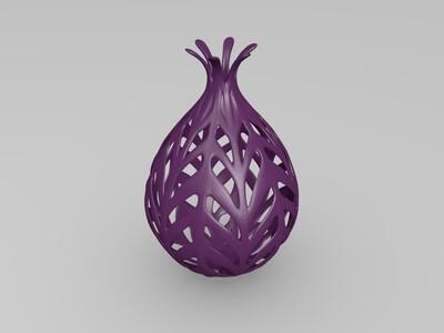 石榴花瓶-3d打印模型