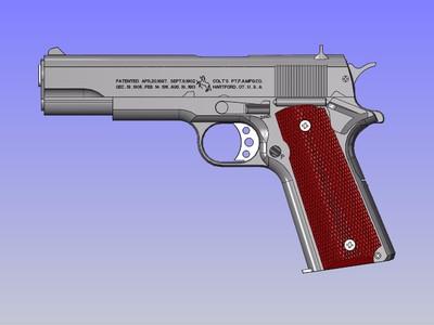 覆刻-COLT M1911-A1 BB弹气枪-3d打印模型