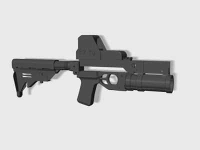 GP25榴弹发射器手持版(手持小钢炮)-3d打印模型