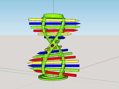 DNA 笔筒-3d打印模型
