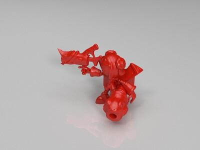 鲁班七号-福禄兄弟-王者荣耀-3d打印模型
