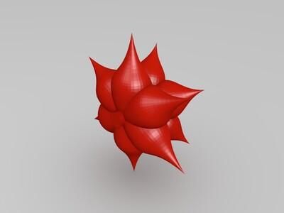 莲花灯盏-3d打印模型