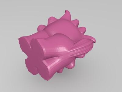 可愛石獅-3d打印模型