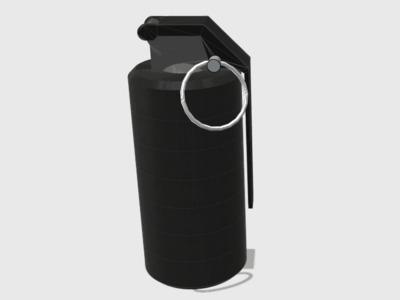 高爆手雷空心带螺纹可当储藏罐-3d打印模型